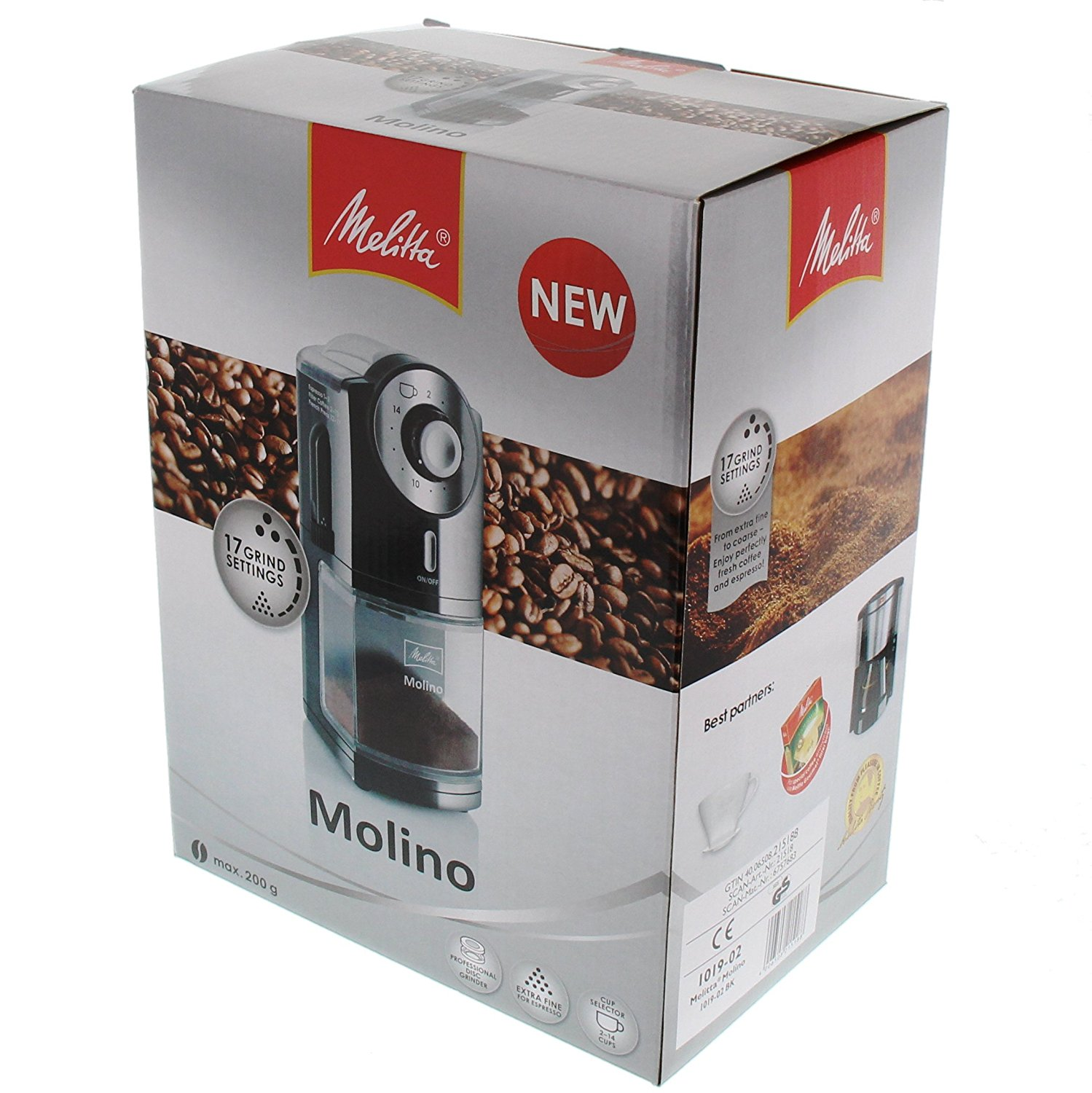 Melitta 1019 02 moulin caf lectrique molino yeepa - Moulin a cafe melitta ...