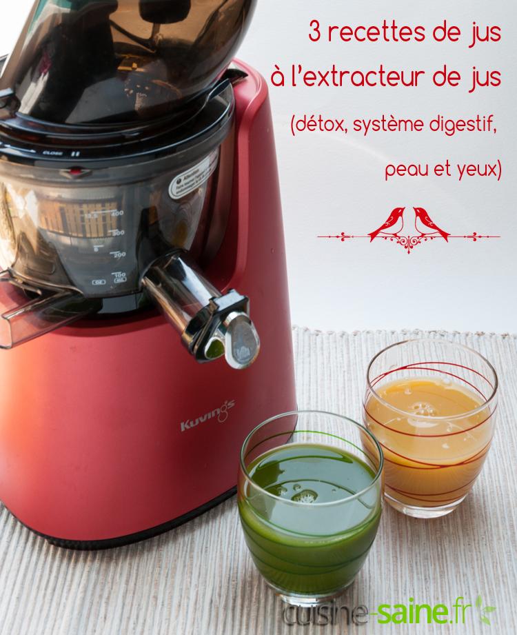 extracteur de jus legumes et fruits